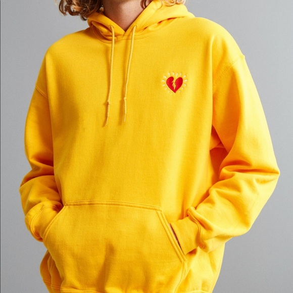 UO Broken Heart Embroidered Hoodie Sweatshirt. M 5abfce4ba6e3ea46aae54253 a1ad99650